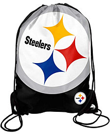 Forever Collectibles Pittsburgh Steelers Big Logo Drawstring Bag