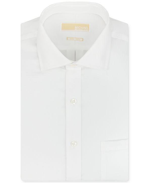 Michael Kors Men's Big & Tall Classic-Fit Non-Iron Twill Solid Dress Shirt
