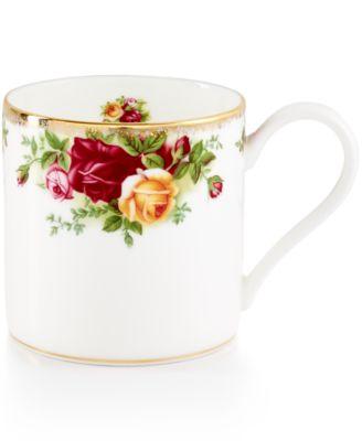Royal Albert Old Country Roses Modern Mug  sc 1 st  Macy\u0027s & Royal Albert Old Country Roses Modern Mug - Fine China - Macy\u0027s