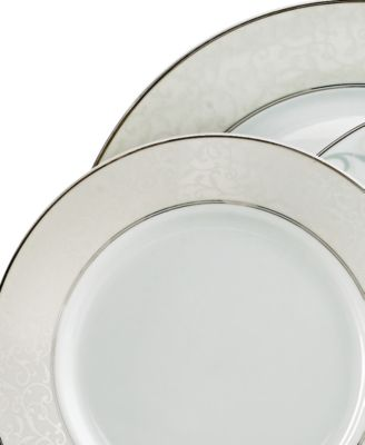Clean cool and marked by an understated elegance Parchment dinnerware features a soft gray border embellished by an intricate scroll design in Mikasa fine ...  sc 1 st  Macyu0027s & Mikasa Parchment Collection - Fine China - Macyu0027s