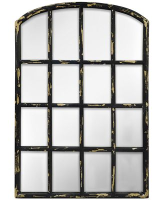 Concepts In Time Antique Windowpane Mirror