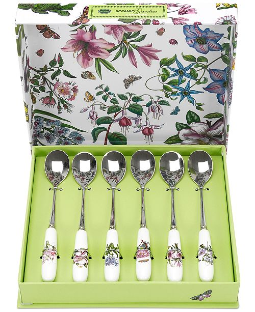 Portmeirion Botanic Garden Set of 6 Teaspoons