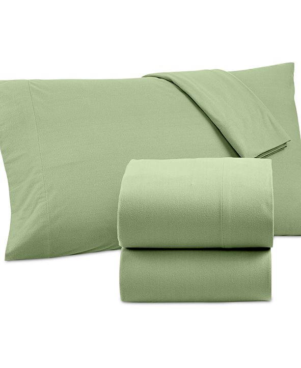 Shavel Micro Flannel Solid Full 4-pc Sheet Set