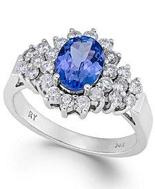 Tanzanite (1-1/10 ct. t.w.) and Diamond (5/8 ct. t.w.) Ring in 14k White Gold