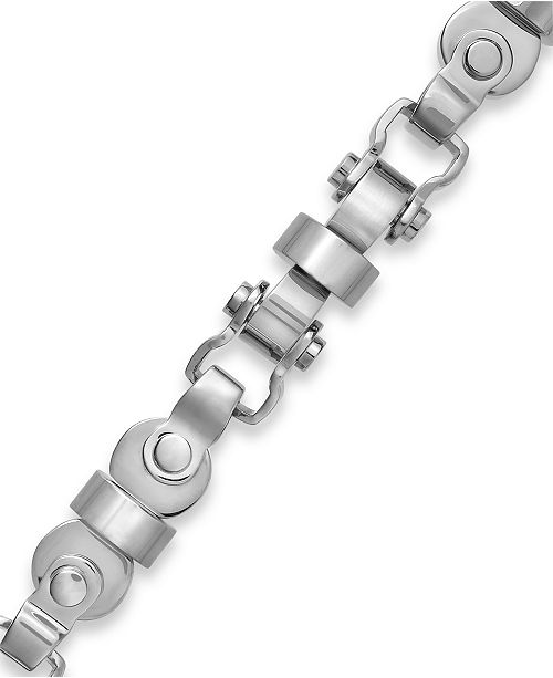 Macy's Men's Axle Link Bracelet in Stainless Steel