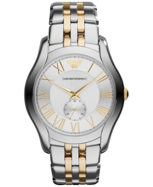 Emporio Armani Unisex Two-Tone Stainless Steel Bracelet Watch 43mm AR1844
