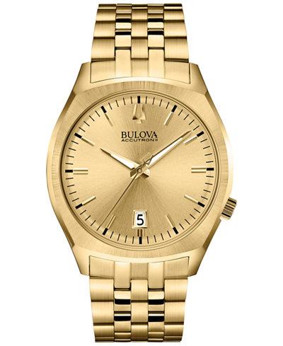 bulova accutron ii men s surveyor gold tone stainless steel bulova accutron ii men s surveyor gold tone stainless steel bracelet watch 41mm 97b134