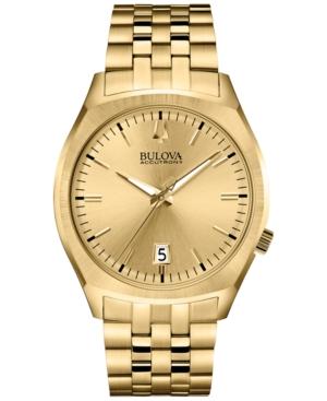 Bulova Accutron Ii Men's Surveyor Gold-Tone Stainless Steel Bracelet Watch 41mm 97B134