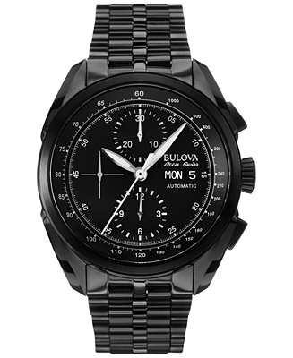 Bulova AccuSwiss Men's Automatic Chronograph Tellaro Black