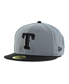 New Era Texas Rangers FC Gray Black 59FIFTY Cap