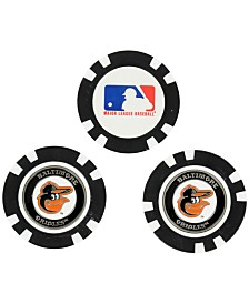Team Golf Baltimore Orioles 3-Pack Poker Chip Golf Markers