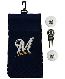 Team Golf Milwaukee Brewers Golf Towel Gift Set
