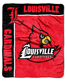 Northwest Company Louisville Cardinals Plush Team Spirit Throw Blanket