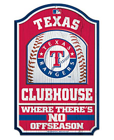 Wincraft Texas Rangers Wood Sign
