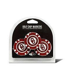 Oklahoma Sooners 3-Pack Poker Chip Golf Markers