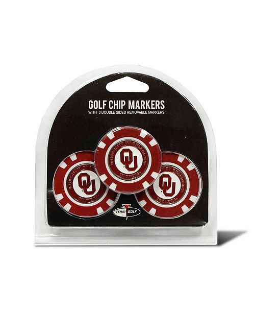Team Golf Oklahoma Sooners 3-Pack Poker Chip Golf Markers