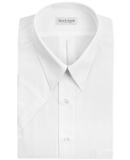 bottom price search for genuine luxuriant in design Poplin Solid Short-Sleeve Dress Shirt