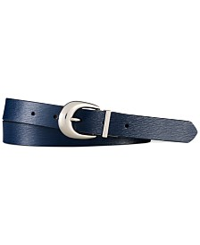 Lauren Ralph Lauren Newbury Saffiano to Smooth Reversible Belt