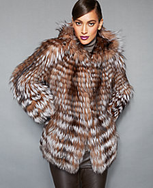 The Fur Vault Fox-Fur Hooded Jacket