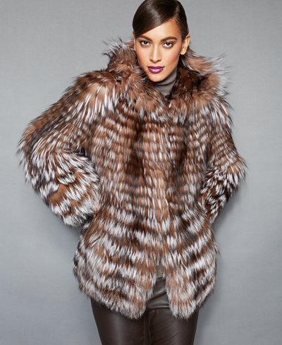 The Fur Vault Fox-Fur Hooded Jacket - The Fur Vault - Women - Macy's