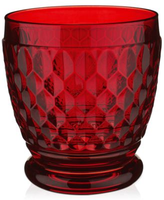 Drinkware, Red Boston Double Old-Fashioned Glass