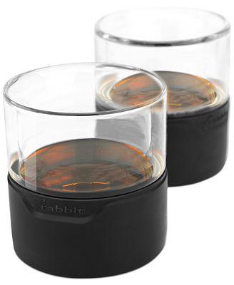 Metrokane Rabbit Whiskey Glasses, Set of 2