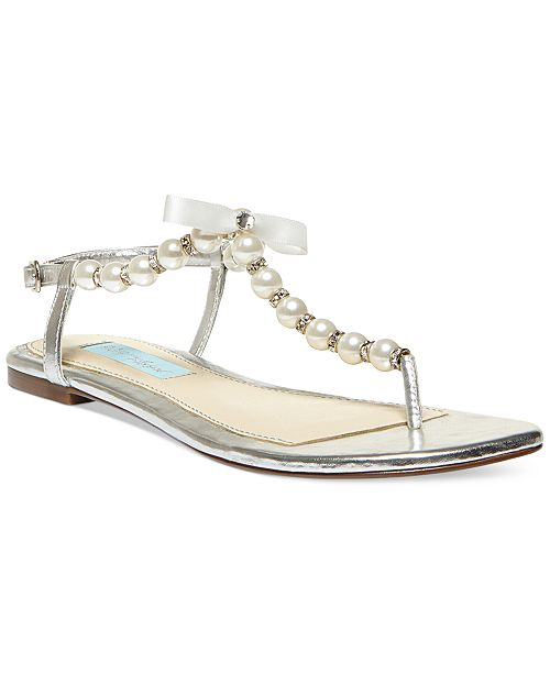 bed0acfb2 Blue by Betsey Johnson Pearl Flat Thong Sandals & Reviews ...