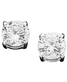 Lauren Ralph Lauren Cubic Zirconia Stud Earrings (6mm)