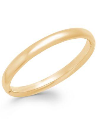 Signature Gold Polished Bangle Bracelet in 14k Gold over Resin