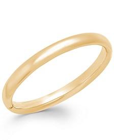 Signature Gold™ Polished Bangle Bracelet in 14k Gold over Resin
