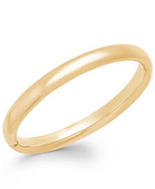 Signature Gold™ Polished Bangle Bracelet in 14k Gold over Resin