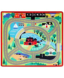 Melissa and Doug Kids' Round the Town Road Rug