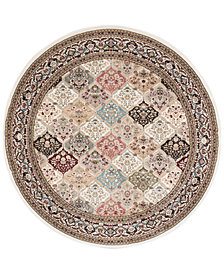 "kathy ireland Home Ephesus Magnesian Multi 5'3"" Round Rug, Created for Macy's"