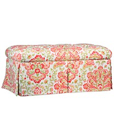 Marin Provence Fabric Storage Bench, Quick Ship