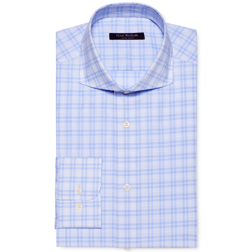 Isaac Mizrahi Slim Fit Check Dress Shirt   Dress Shirts   Men