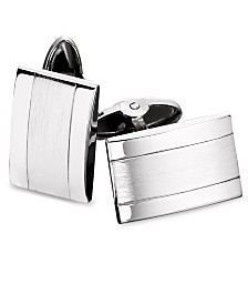 Men's Stainless Steel Dome Cuff Links