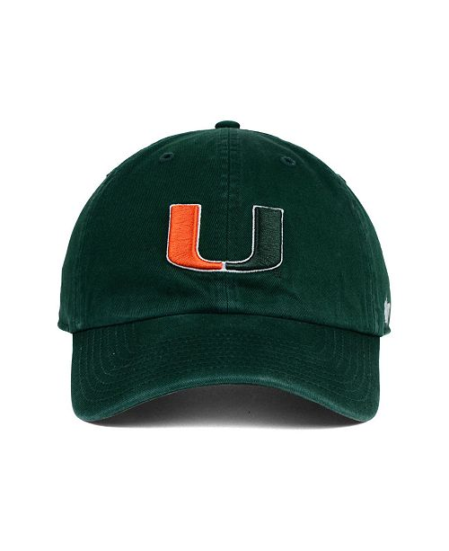 best sneakers 13c5c aaaec ... where to buy 47 brand miami hurricanes clean up cap sports fan shop by  lids men
