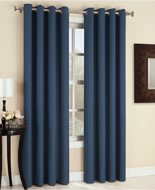 "Sun Zero Maximus Woven Vertical Stripe Blackout 54"" x 63"" Curtain Panel"