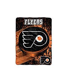 Northwest Company Philadelphia Flyers Micro Raschel Ice Dash Throw Blanket