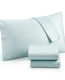 Calvin Klein Silver Net Queen Sheet Set