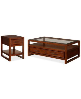 Battery Park 2 Piece Coffee U0026 End Table Set, Created For Macyu0027s