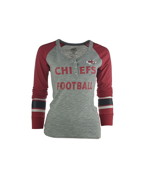 timeless design b1c5f 21266 47 Brand Women's Long-Sleeve Kansas City Chiefs Graphic ...