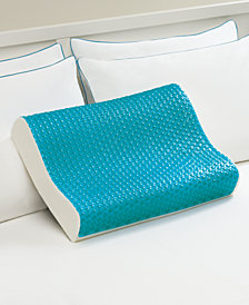 Comfort Revolution Cool Comfort Memory Foam Contour Pillow, Heat Minimizing Hydraluxe™ Gel & Open Cell Ventilated