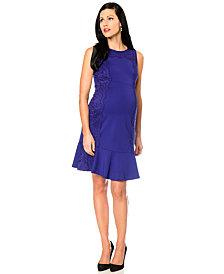 A Pea In The Pod Maternity Drop-Waist Flare Dress