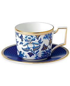 23d5bf59566 Wedgwood Hibiscus Teacup & Saucer Set