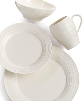 Dinnerware Swirl Round 4 Piece Place Setting  sc 1 st  Macyu0027s & Mikasa Dinnerware Swirl Collection - Dinnerware - Dining ...
