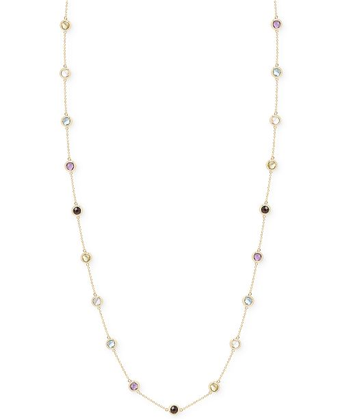 Victoria Townsend Multi-Stone Bezel Necklace in 18k Gold over Sterling Silver (20 ct. t.w.)