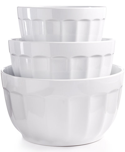 Martha Stewart Collection Set of 3 Fluted Melamine Bowls, Created for Macy's