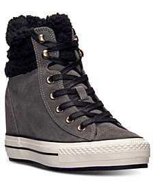 Converse Women's Chuck Taylor All Star Platform Plus Hi Suede Casual Sneakers from Finish Line