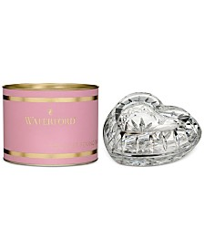 Waterford Pink Giftology Lismore Heart Box